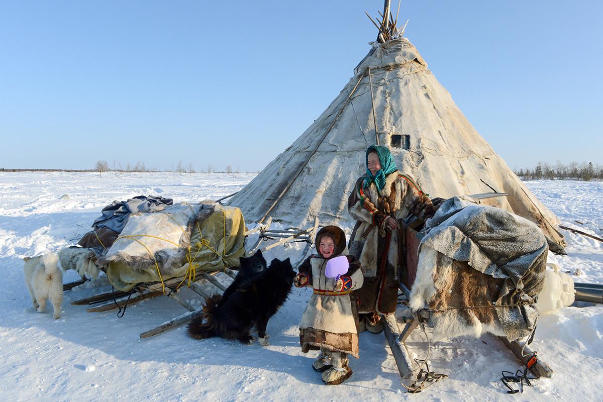 Sebuah chum di Yamal.