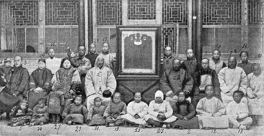 Nachkommen der Albaziner im Jahr 1900.