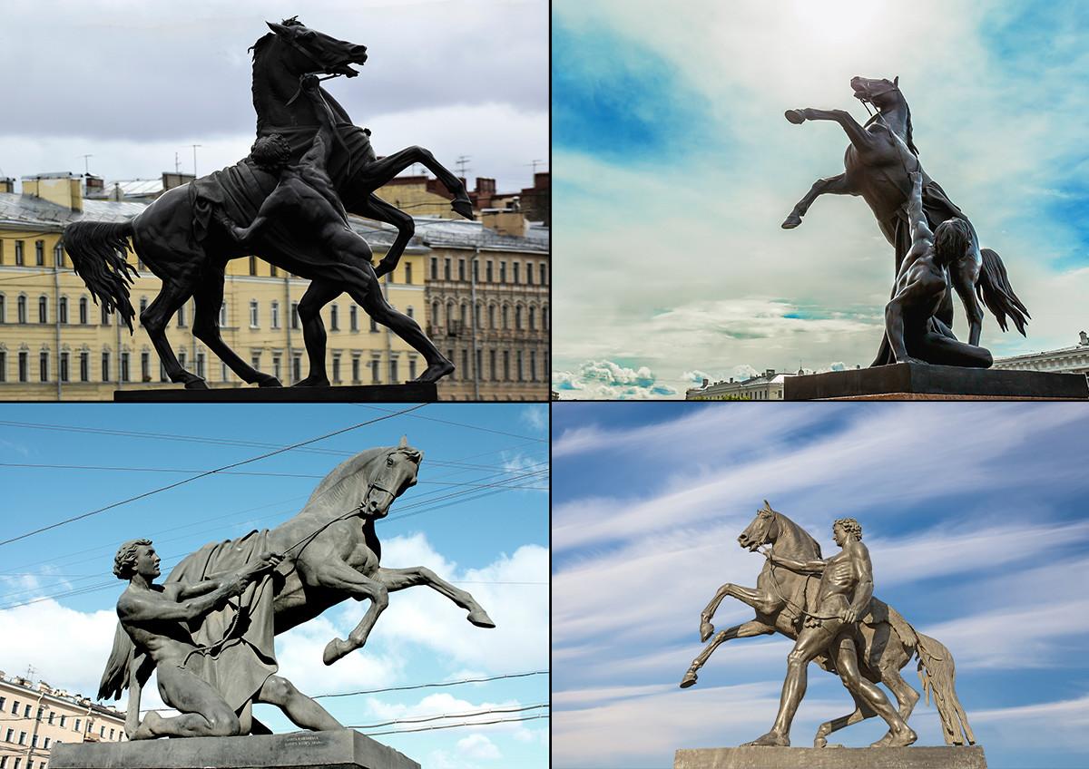 Sculptures de Clodt von Jürgensburg à Saint-Pétersbourg