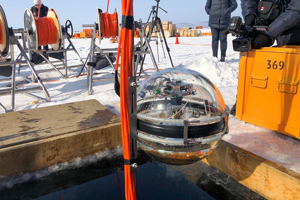Neutrinski teleskop Baikal-GVD spušta se u Irkutskoj oblasti, Rusija.
