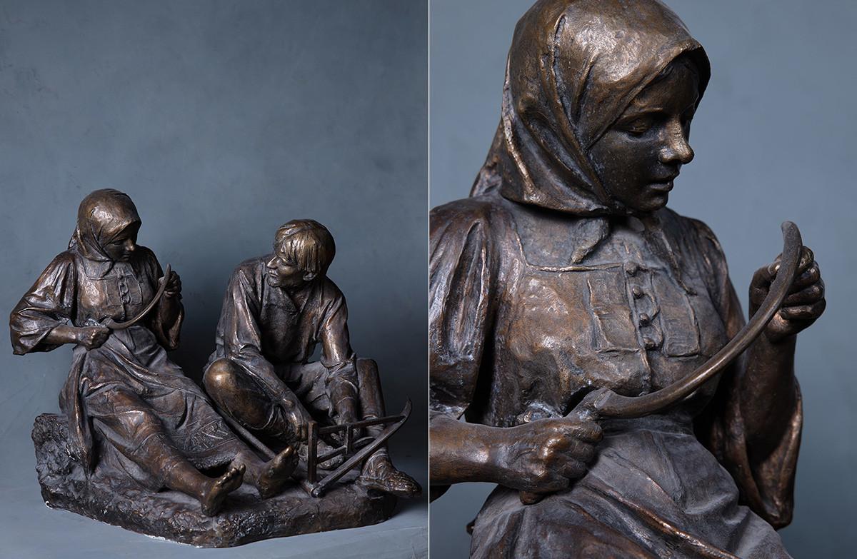 Vladimir Beklemichev. Amour villageois. 1896. Bronze.