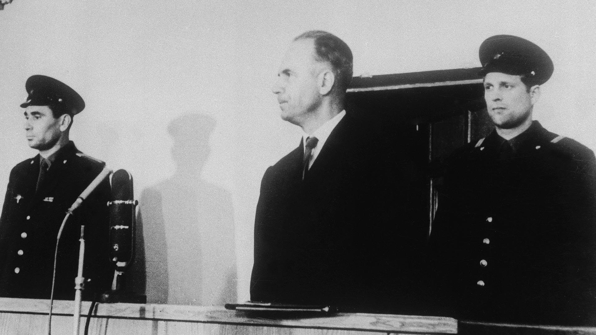 Олег Пеньковский в ходе суда.