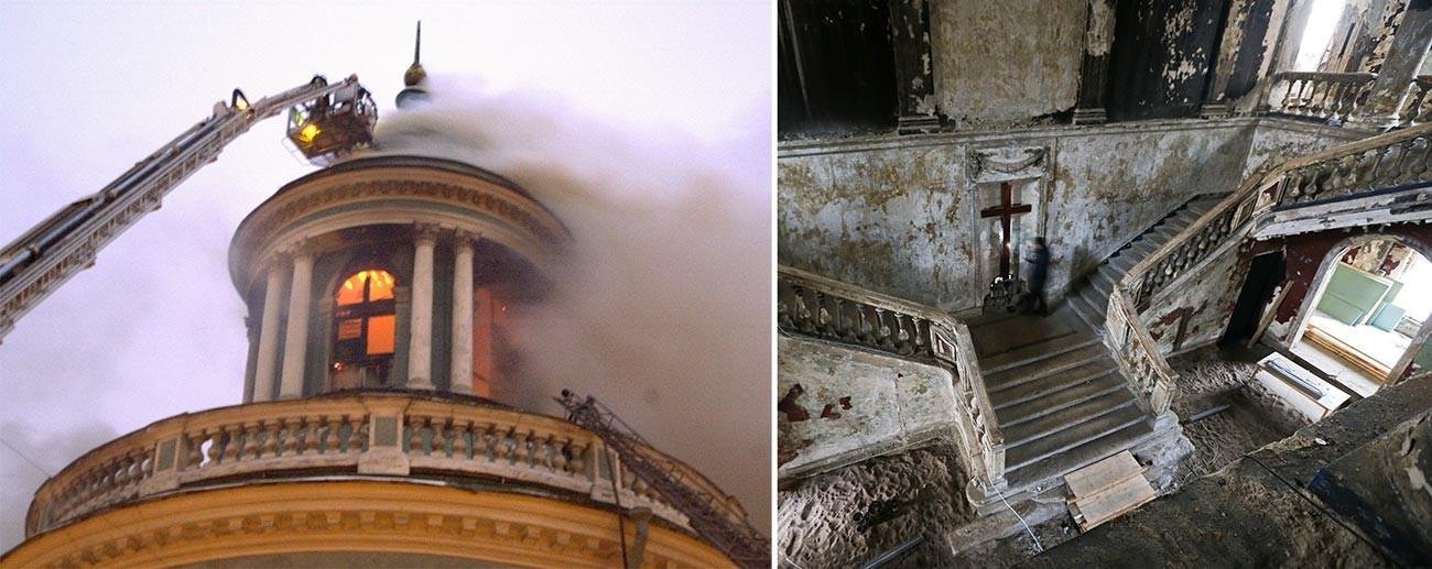 L'incendio scoppiato nel 2002