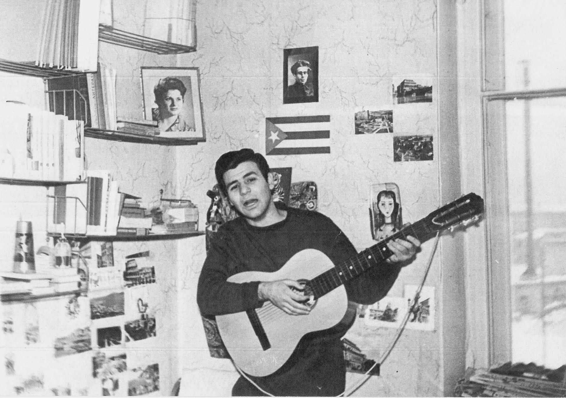 Nella stanza della casa dello studente, febbraio 1963