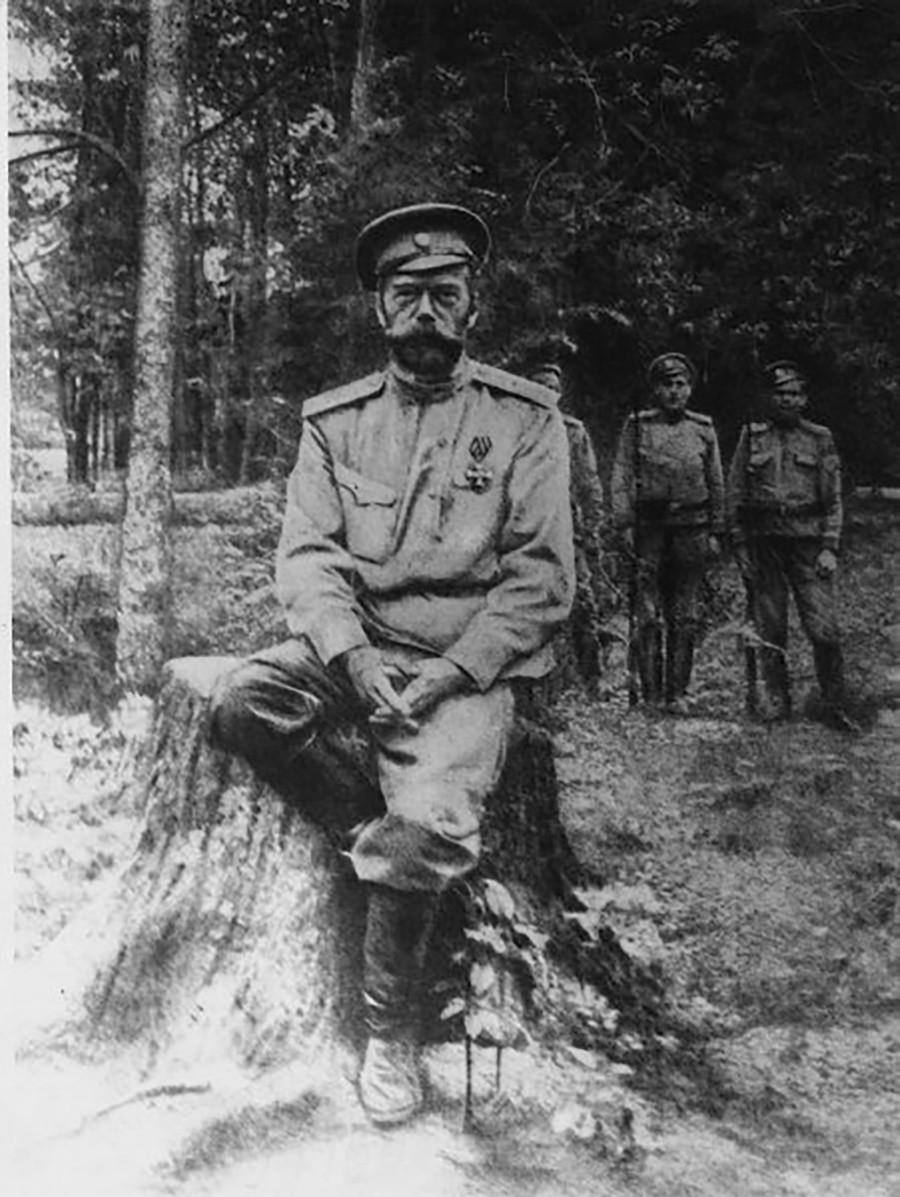 ツァールスコエ・セローで散策中に逮捕されたニコライ2世