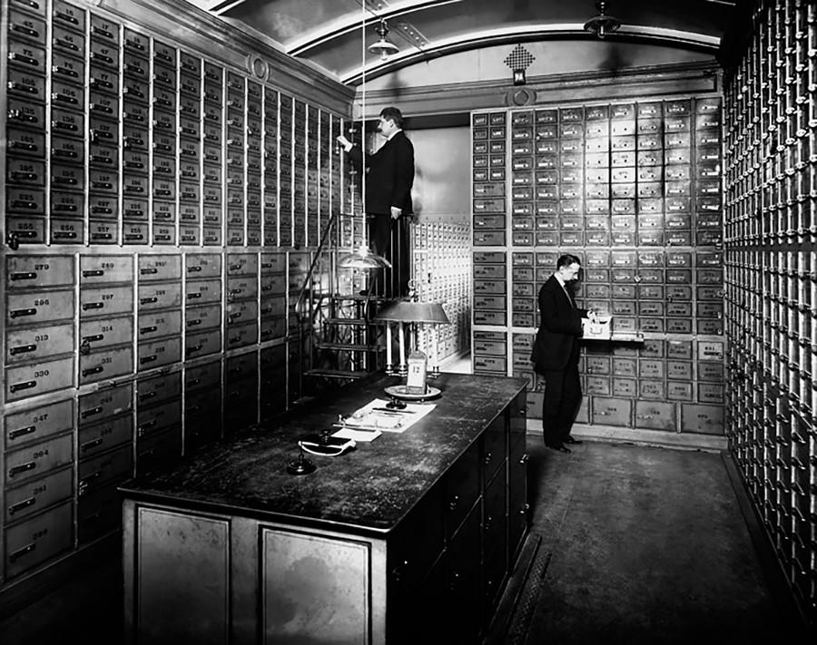 市中銀行の貸金庫室