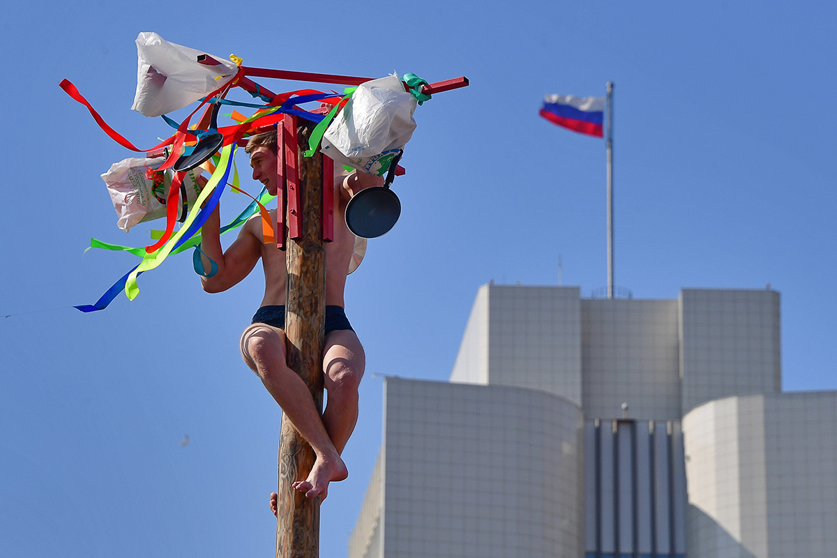 La Maslenitsa se celebra en Vladivostok, Rusia