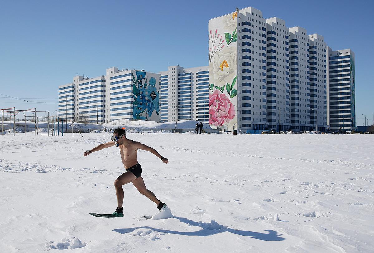 La Maslenitsa se celebra en Novosibirsk, Rusia