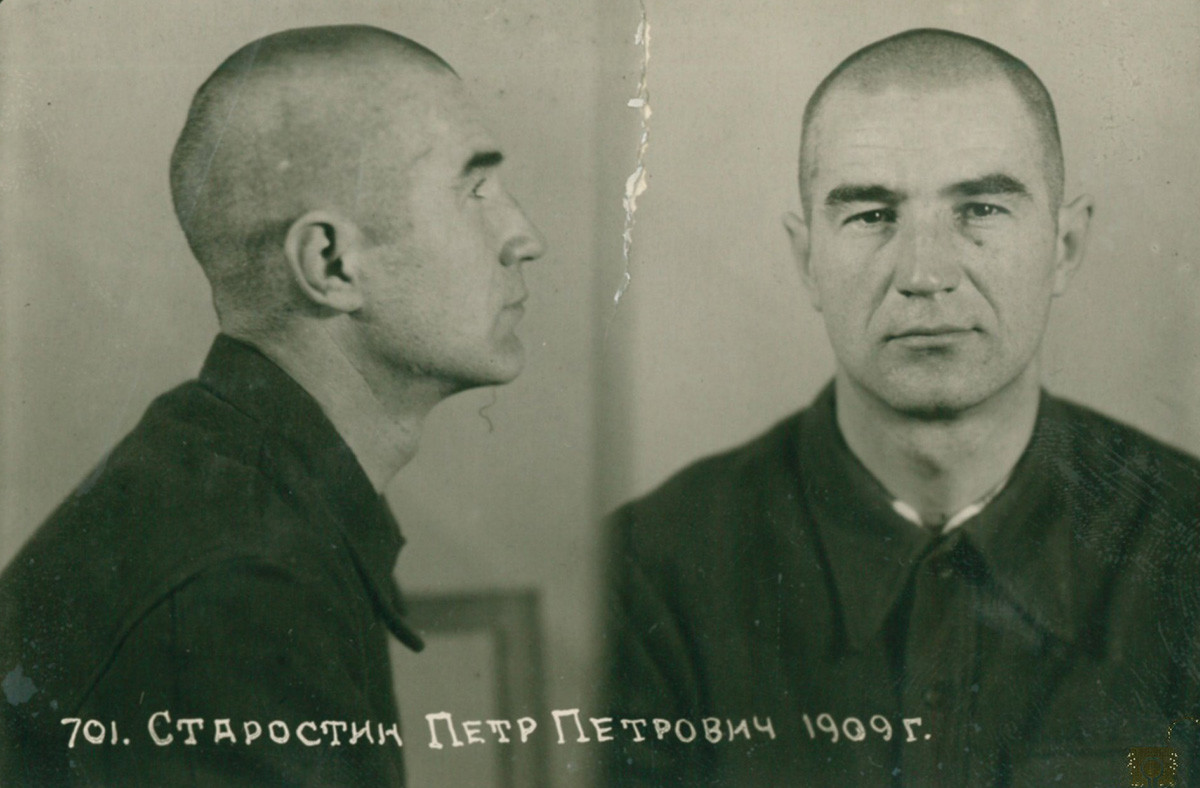 Pyotr Starostin in jail