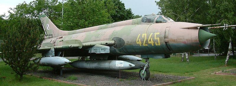 Un ejemplar de SU-20 expuesto en la localidad polaca de Poznan.