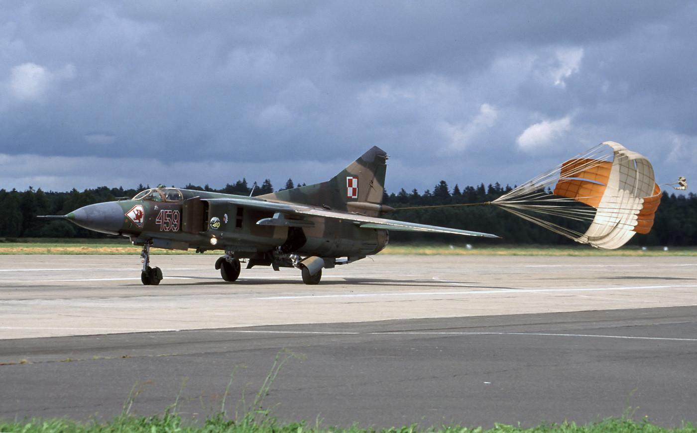 MiG-23 en la base de Slupsk (Polonia) en 1995.