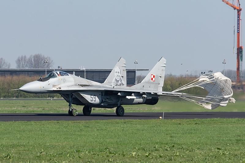 MiG-29 polaco fotografiado en 2018.