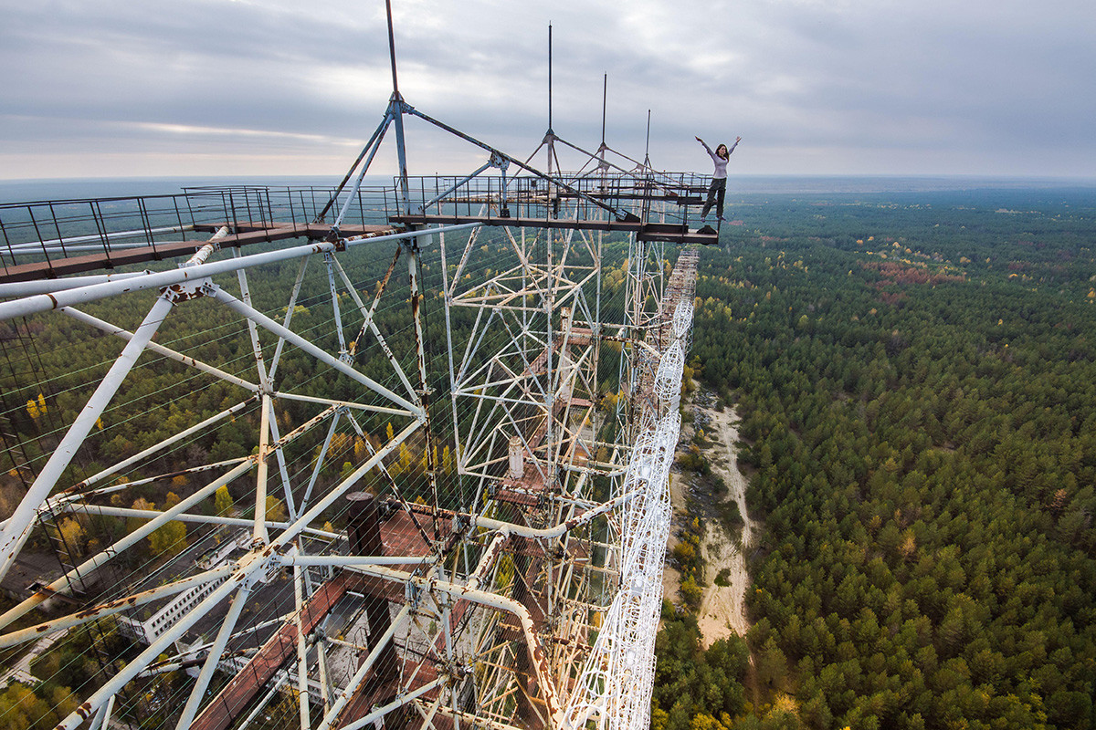 Former Duga Military Radar System In The Chernobyl Exclusion Zone.