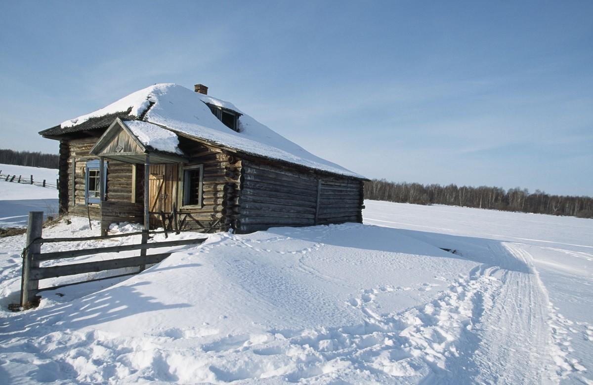 Izba en la región de Tomsk