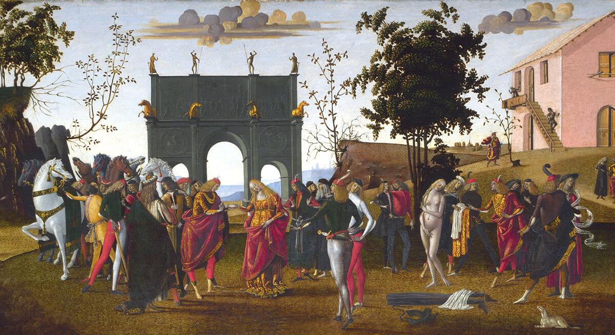 Un frammento del dipinto