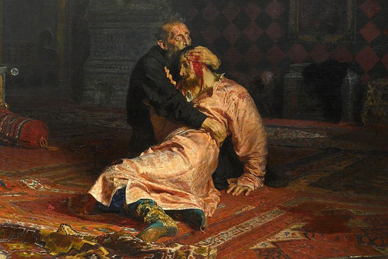 Iwan der Schreckliche und sein Sohn Iwan, 16. November 1581 von Ilja Repin
