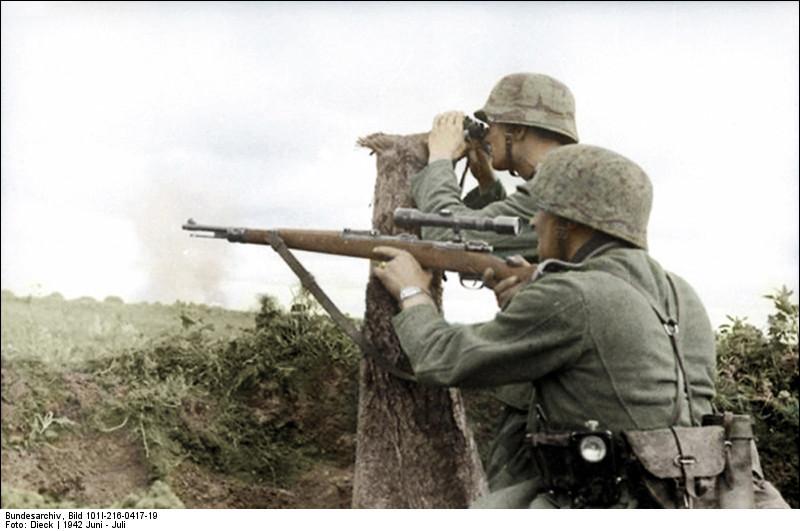 Francotiradores alemanes en Voronezh, junio de 1942