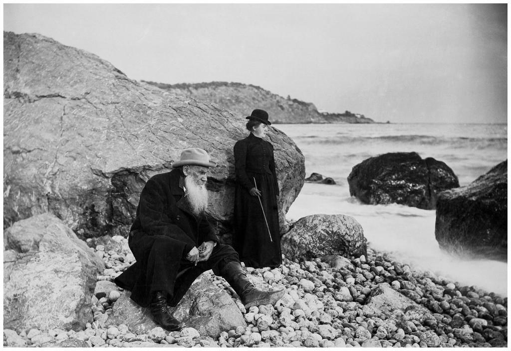 Léon Tolstoï et sa fille Alexandra en Crimée, 1901