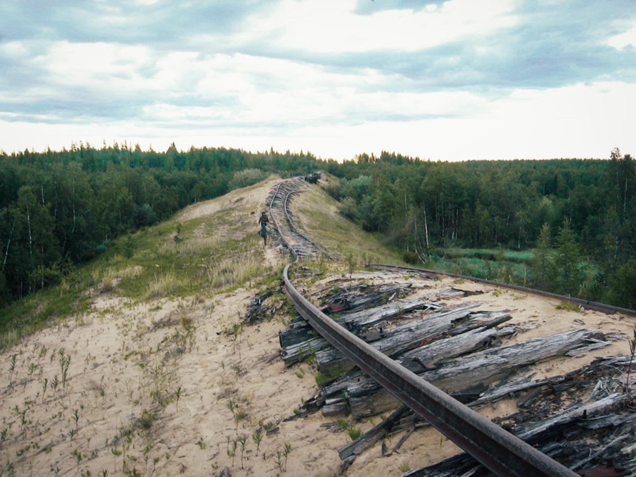 Трансполярная магистраль 2004 г. Перегон Салехард—Надым.