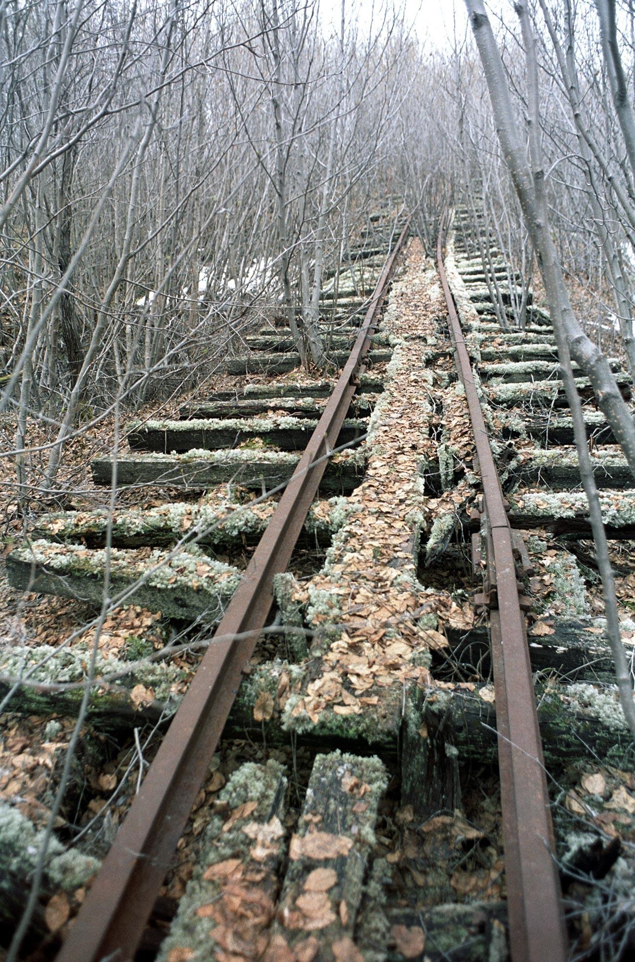 Остатки железной дороги.