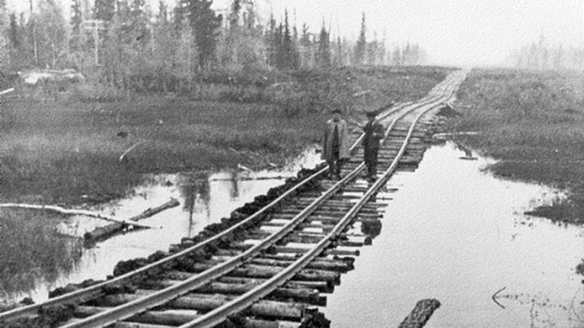 Железная дорога в тундре.