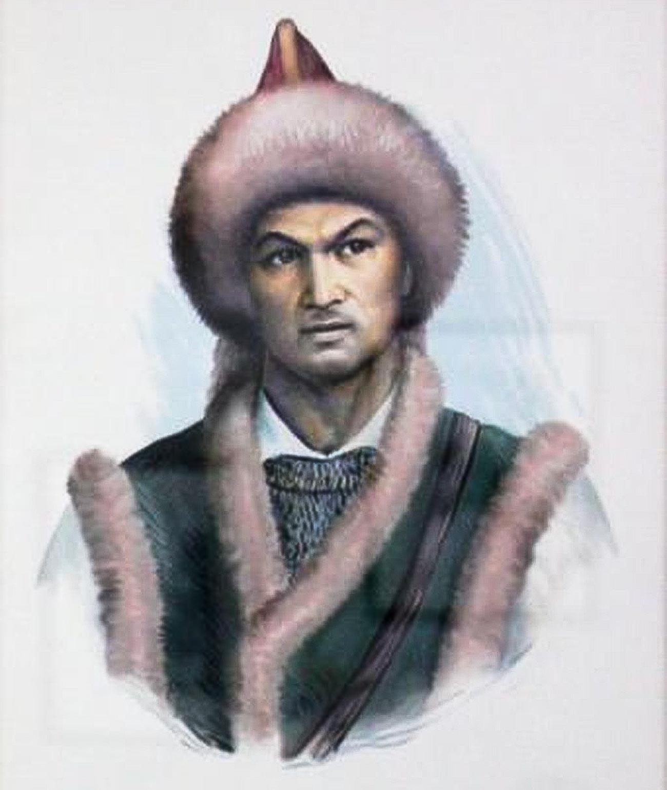 Ф.Ф.Ислахов. Портрет Салавата Юлаева