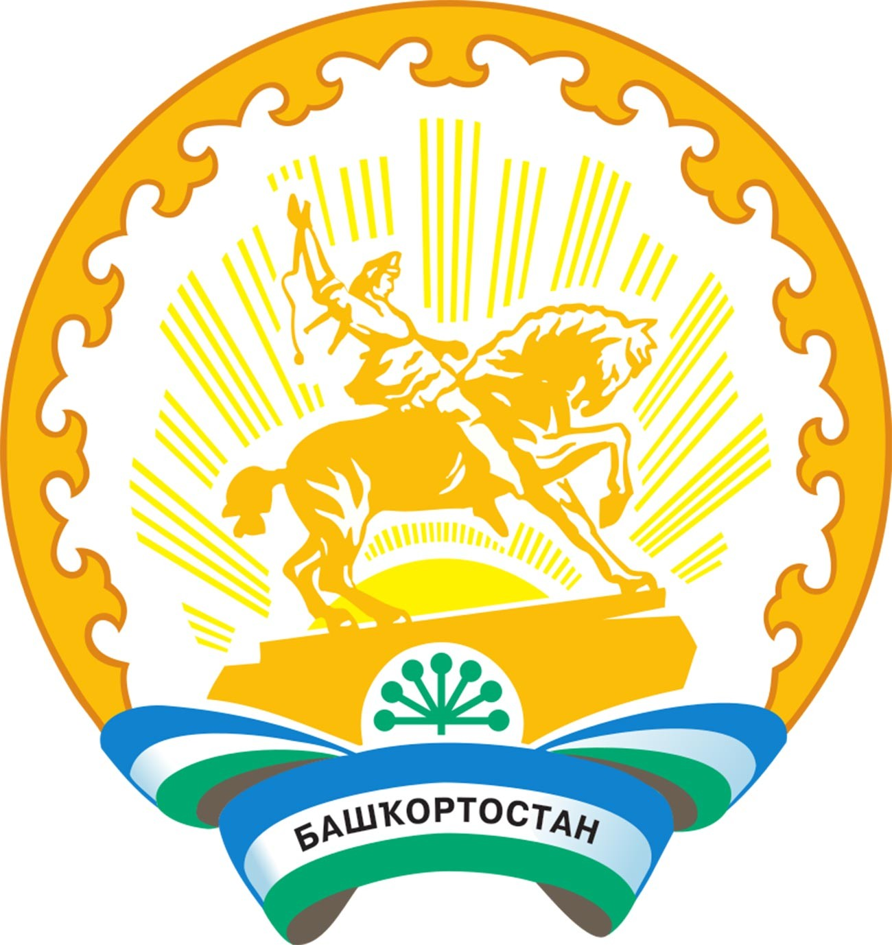 The official emblem of the Republic of Bashkortostan