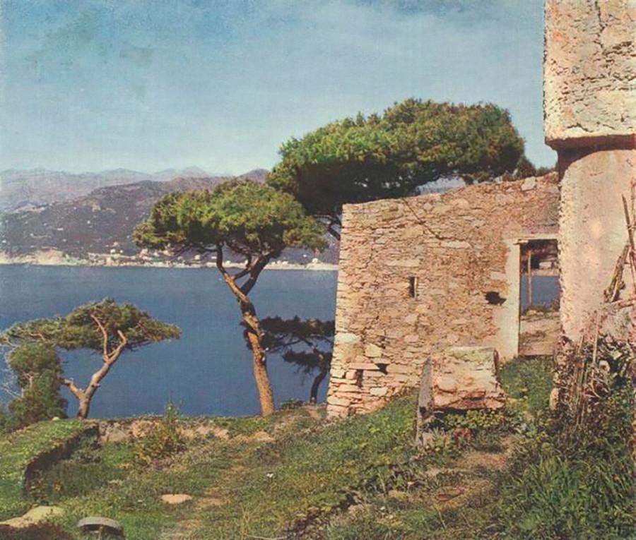 絵のように美しいクリミア沿岸の一コマ。1900年代