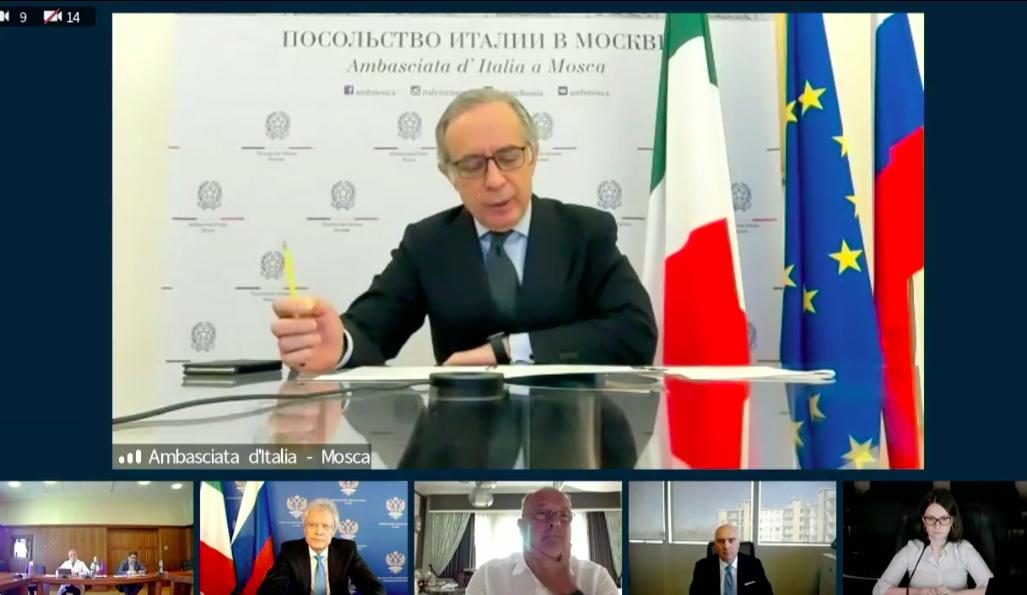 L'ambasciatore italiano in Russia Pasquale Terracciano, intervenuto alla tavola rotonda sullo Sputnik V