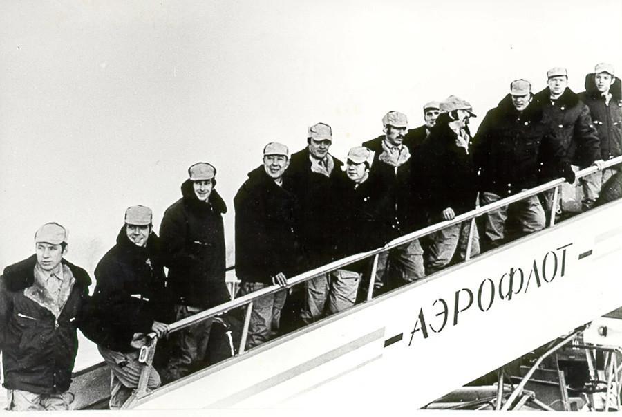 Comandos Alfa antes de ser desplegados en Kabul para una operación de combate.