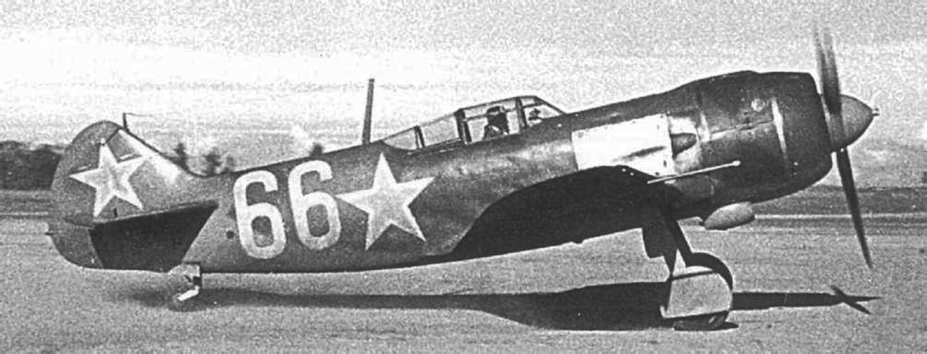 Lawotschkin La-5 sowjetisches Kampfflugzeug.