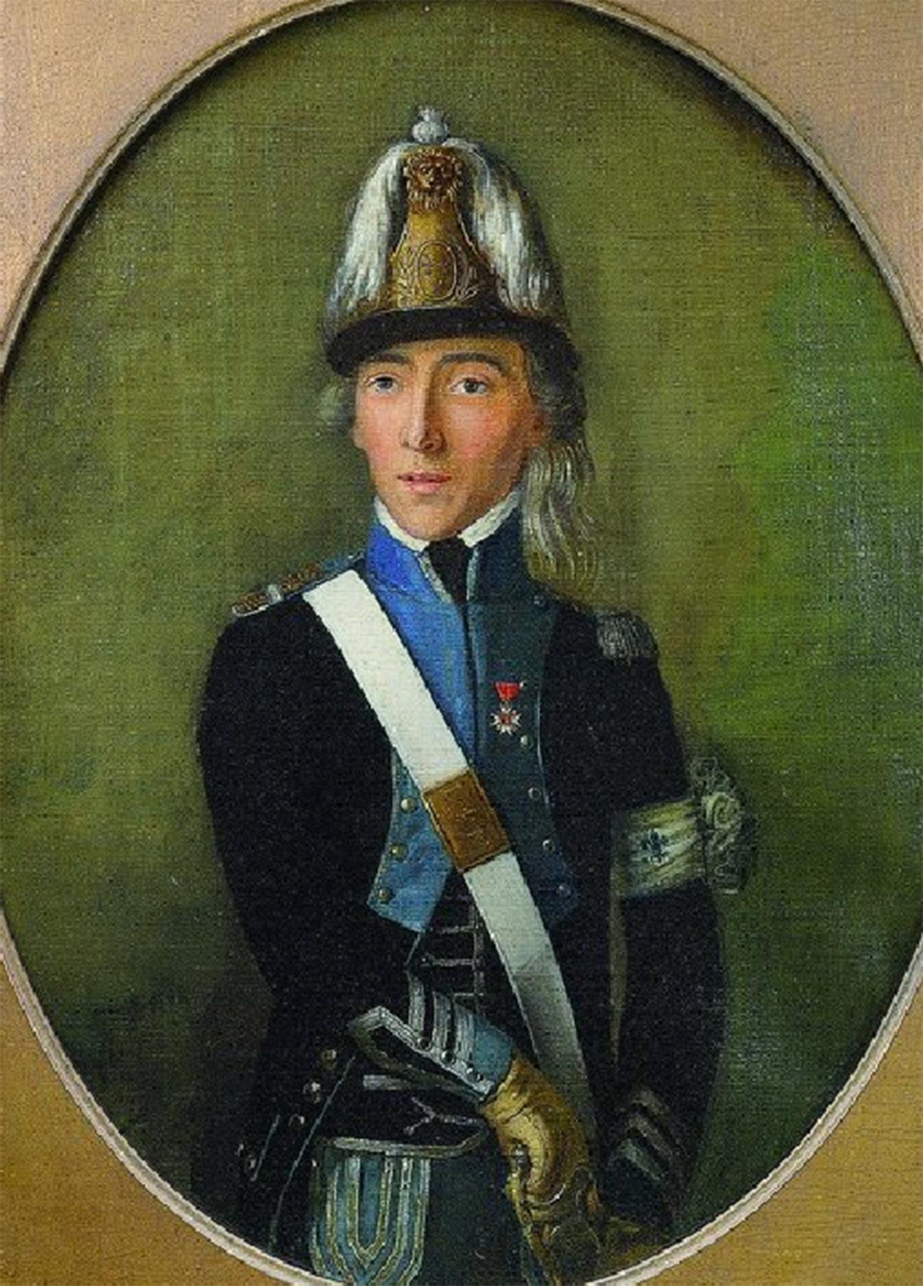 Portrait d'un capitaine du Corps d'émigrés royalistes français du prince de Condé (1792-1795)