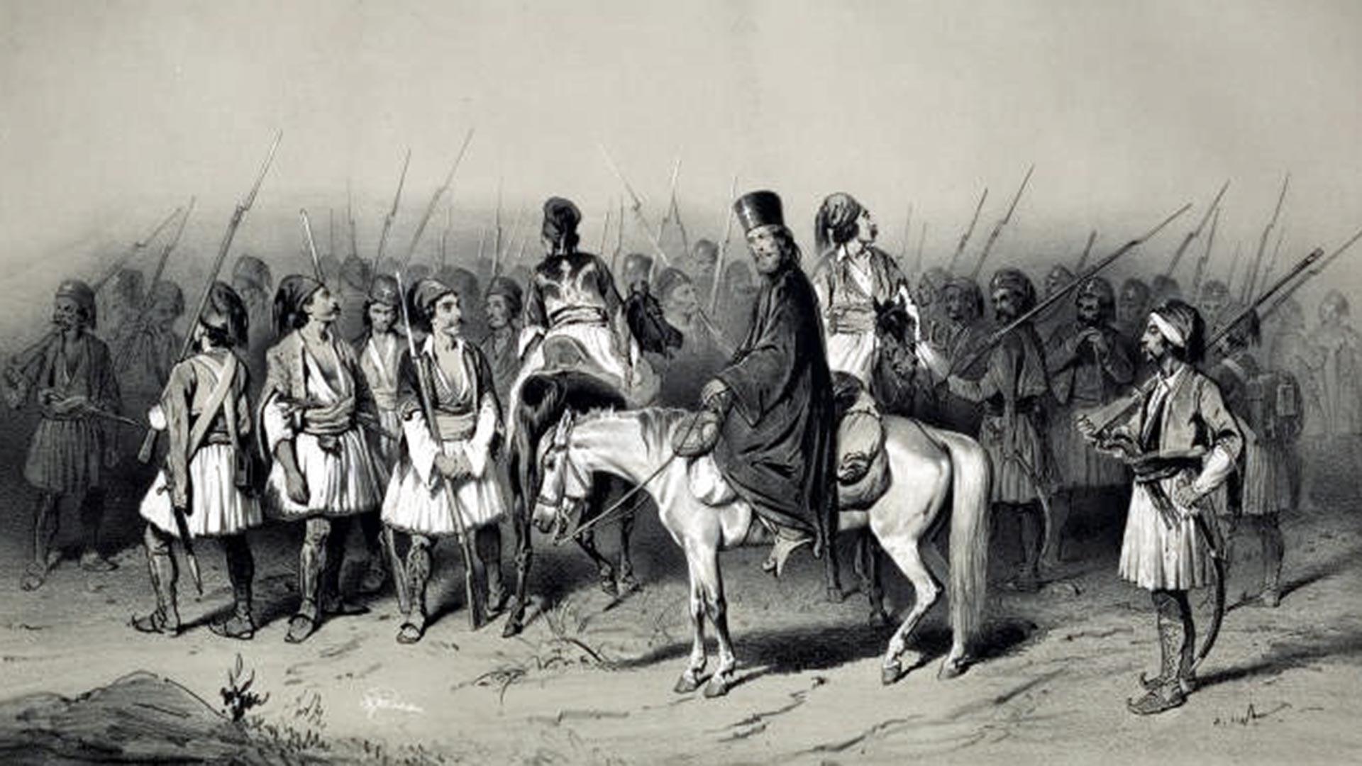 Une escouade de volontaires grecs