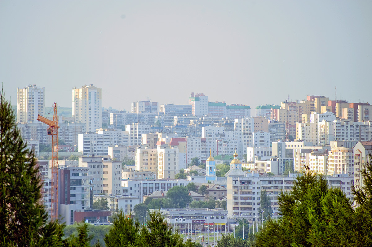 Belgorod panorama. View north from August 5th Street (named in honor of city's final liberation from German occupation on August 5, 1943).  June 24, 2015