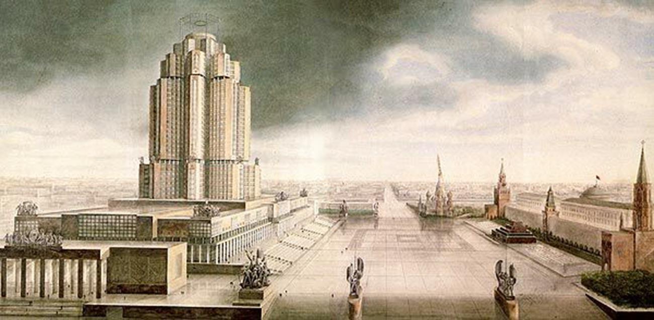 Salah satu desain gedung Narkomtyazhprom.