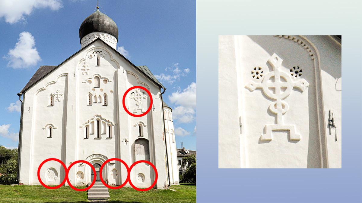 Gereja Transfigurasi Juru Selamat abad ke-14 di Jalan Ilyina.