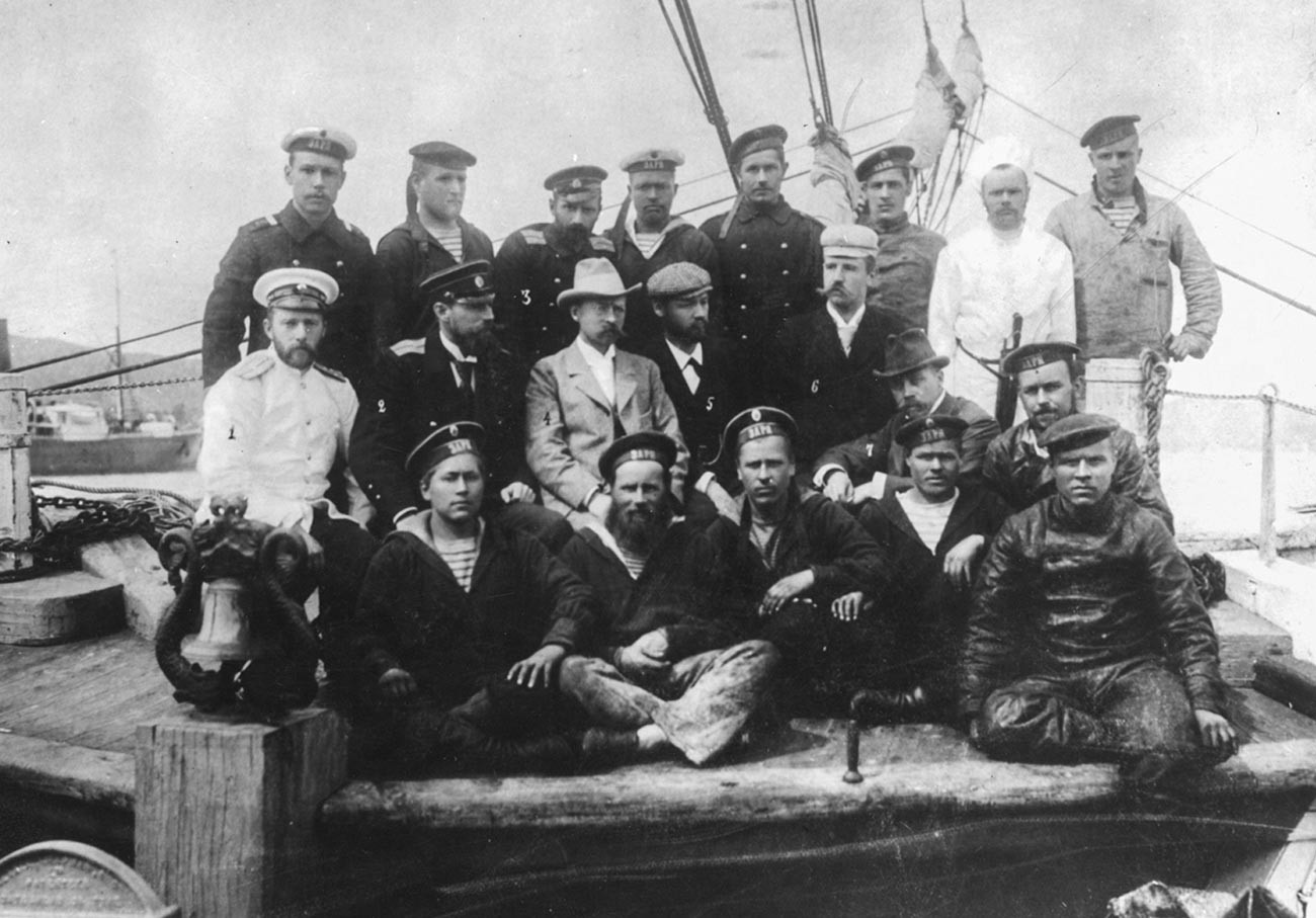 Mitglieder der Russischen Polarexpedition der Kaiserlichen Akademie der Wissenschaften.