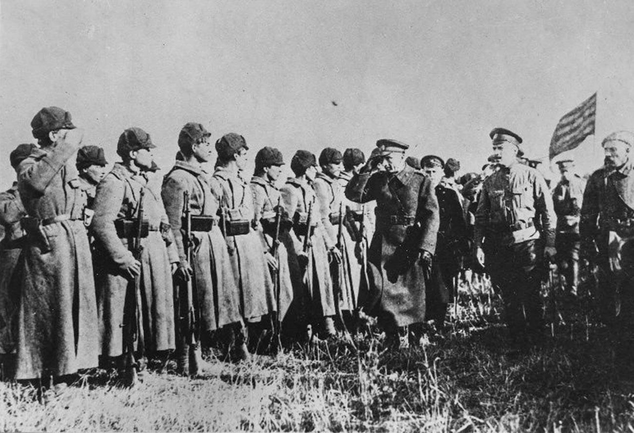 Koltschak während des Bürgerkriegs in Russland.
