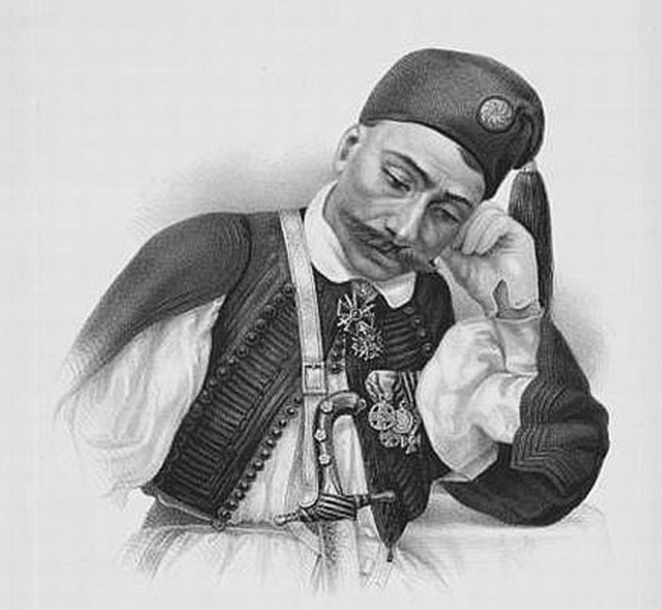 Aristide Chrisoveri, major in nekdanji poveljnik Grške legije carja Nikolaja I.
