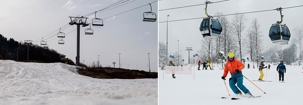 Smučišče Krasnaja Poljana, 28. marec 2020 in 22. februar 2021.