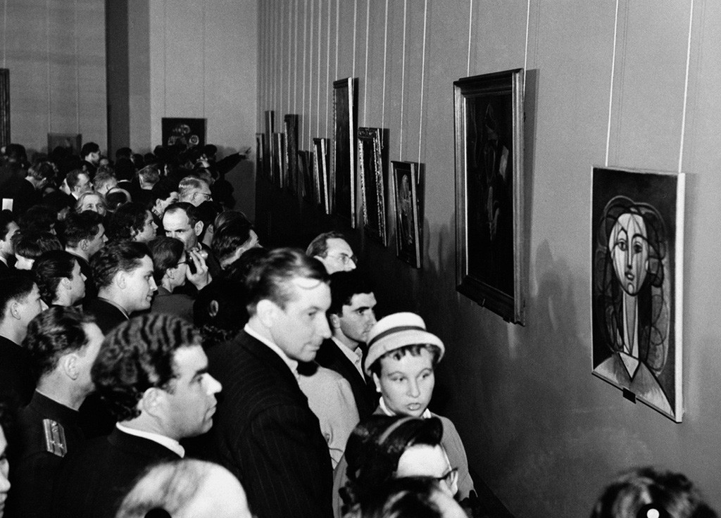 Exhibition of Pablo Picasso in Moscow.