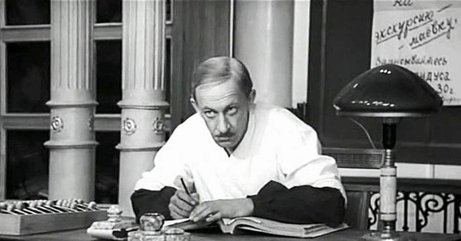O ator Evgueni Evstigneev em papel baseado em Korovko.