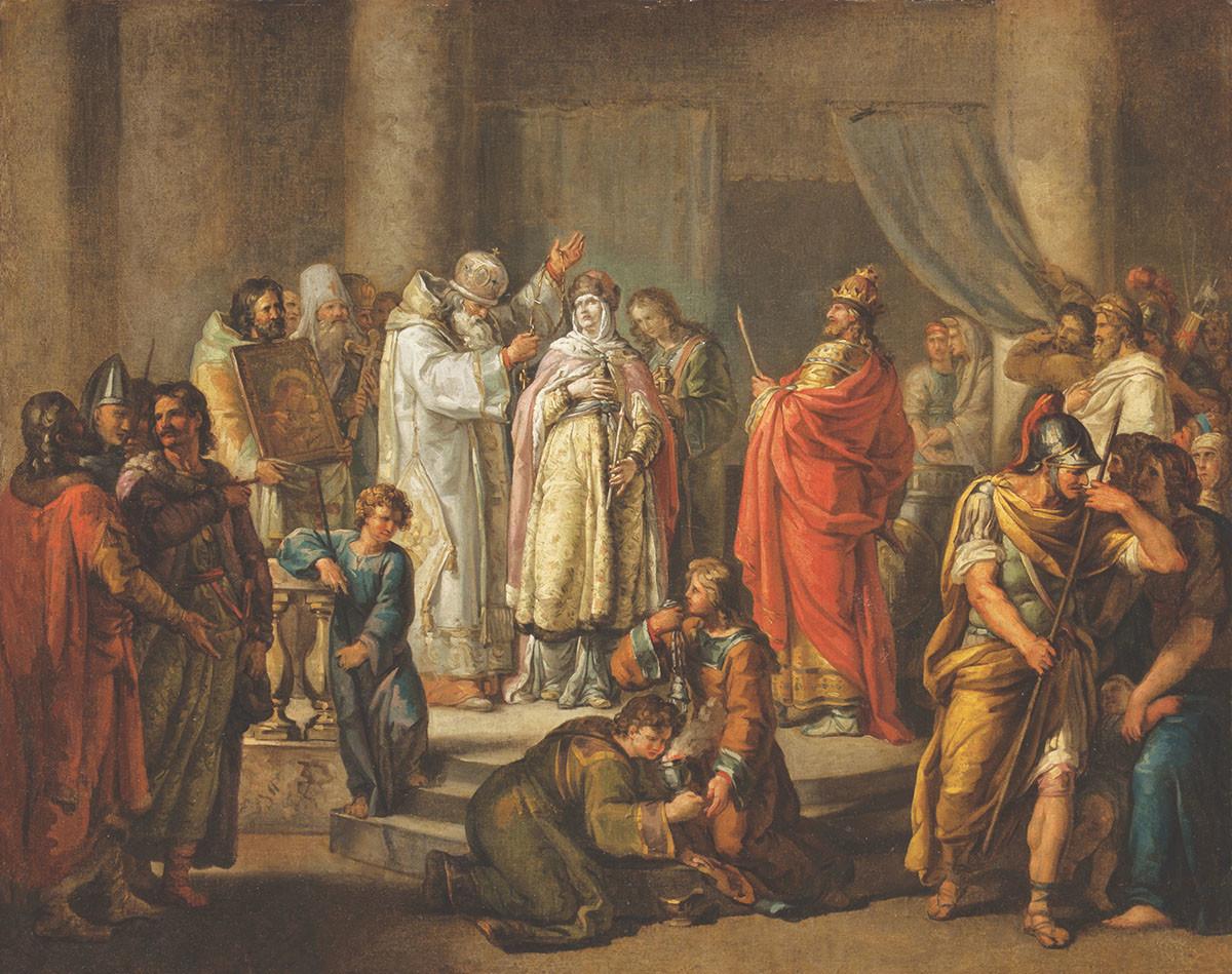 Ivan Akimov. Baptism of Saint Olga