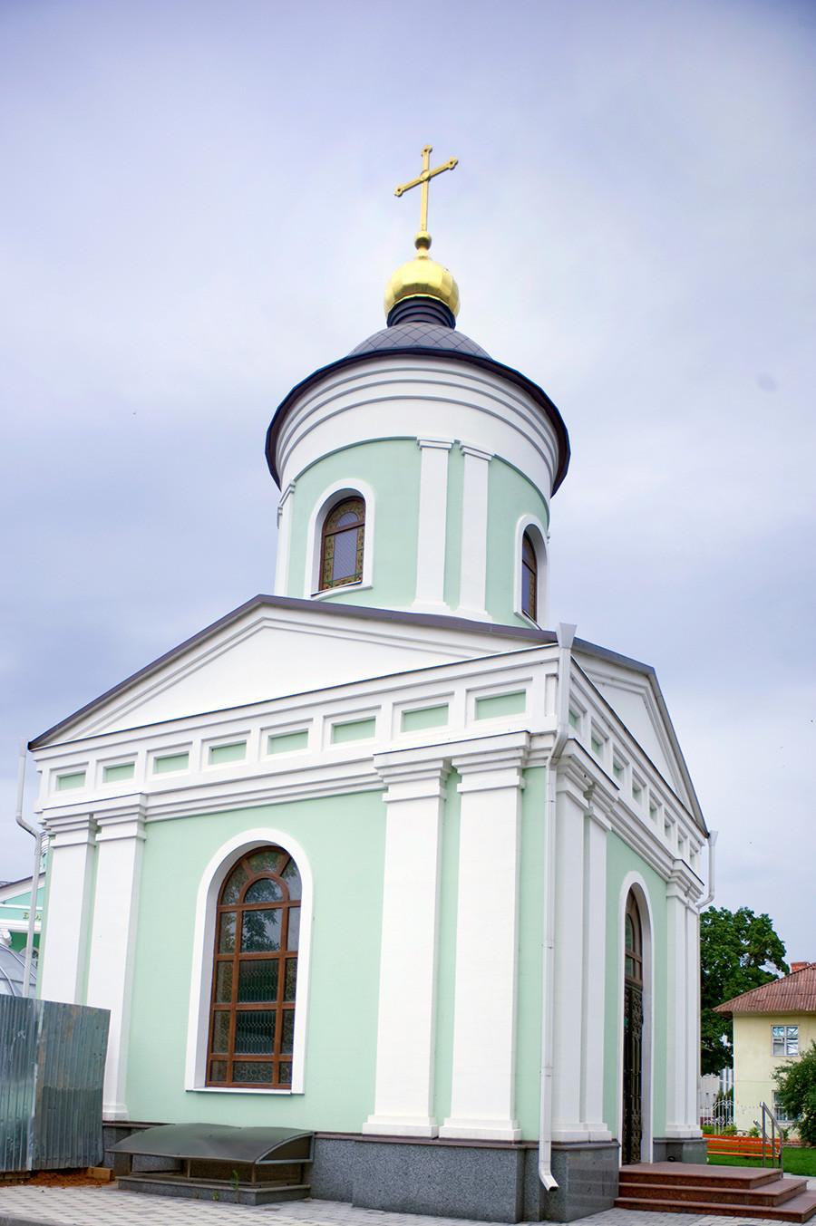 Chapelle Saint Ioassaph de Belgorod. Construite en 2011 sur le site de la cathédrale de la Trinité à l'emplacement de la sépulture d'Ioassaph