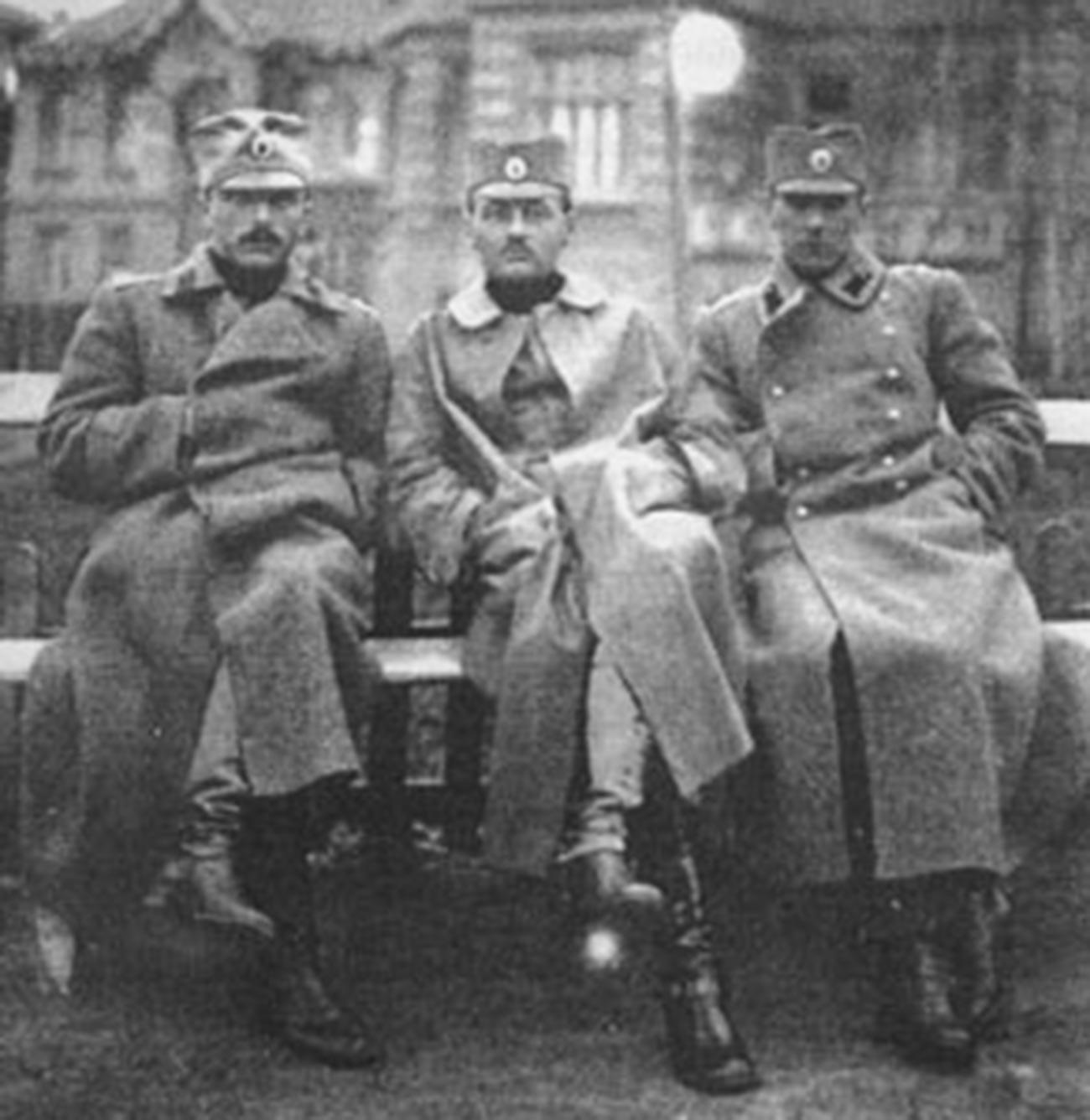Serbische Freiwillige.