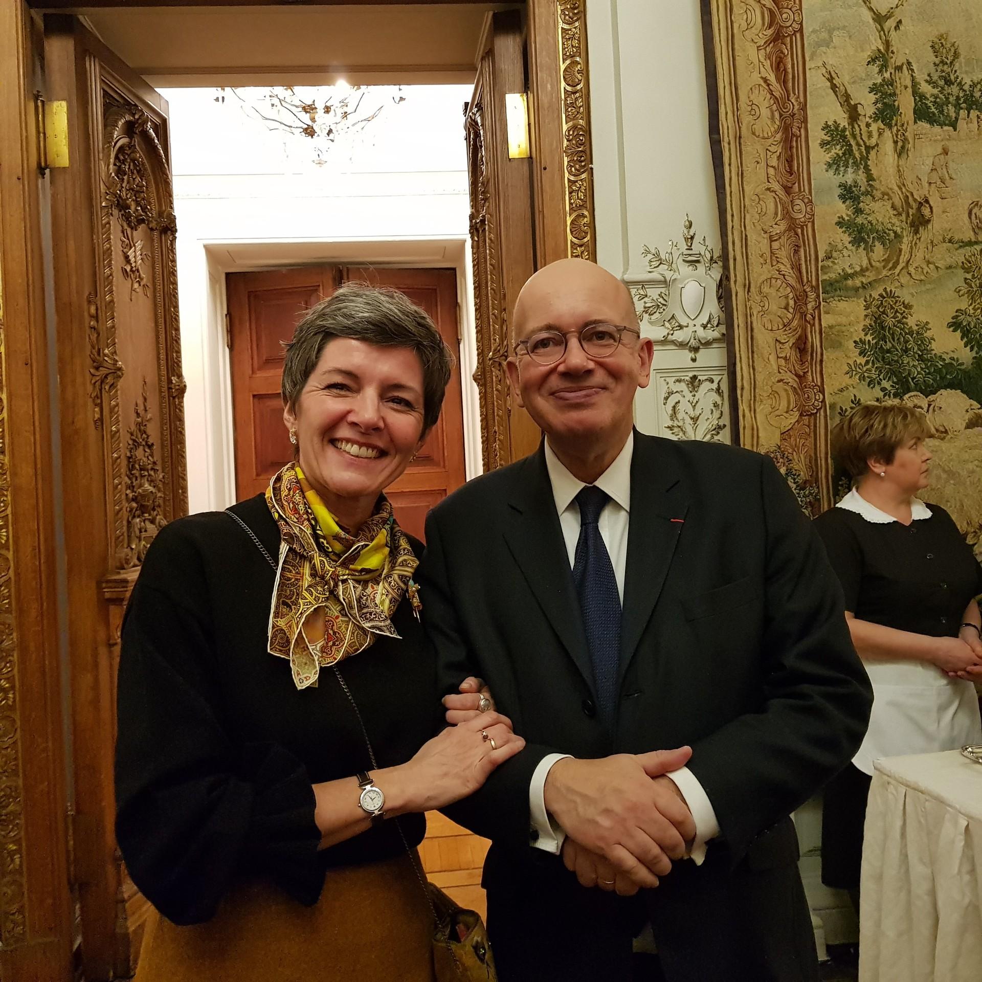 Cécile Rogue et Pierre Lévy, ambassadeur de France en Russie