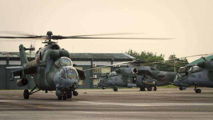 Helicópteros Mi-35M de la Fuerza Aérea Brasileña.