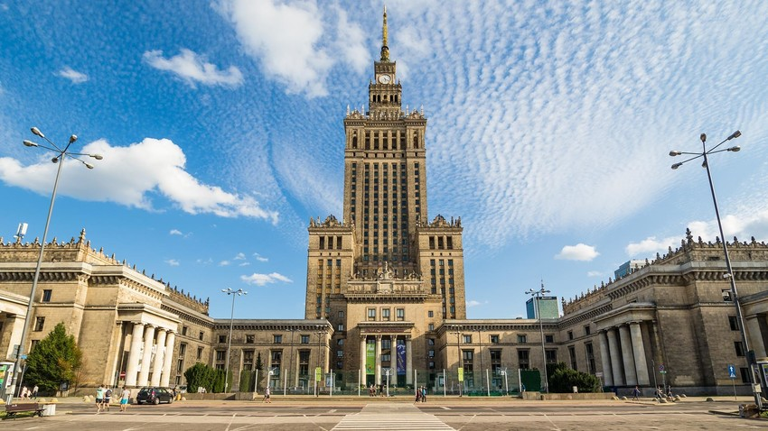 Palast der Kultur und Wissenschaft, Warschau.