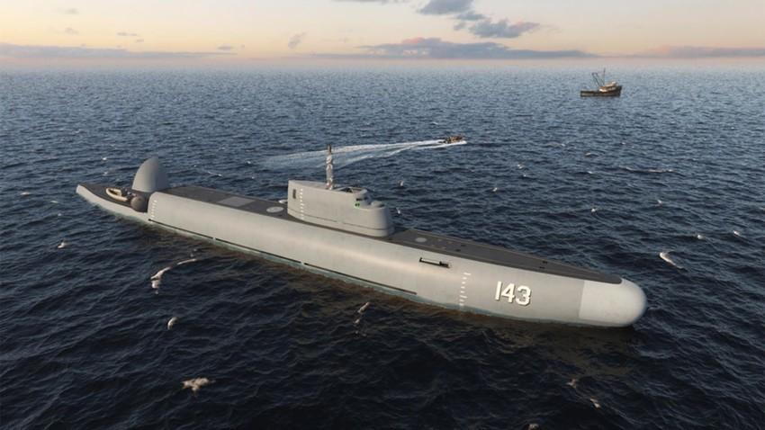 Patruljna podmornica Straž (računalnička grafika)