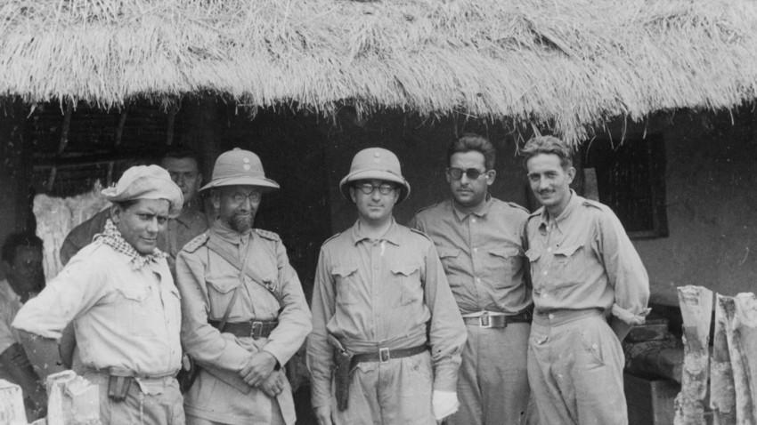 Juan Belaieff, el general ruso (segundo a la izquierda) durante la Guerra del Chaco.